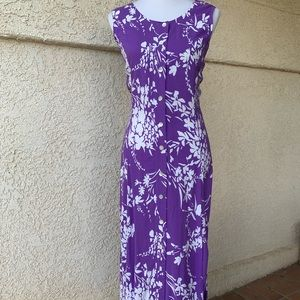 Lovely Blair Purple & White Floral Maxi Dress